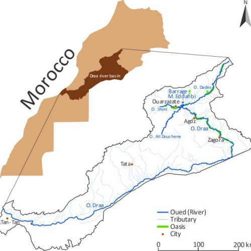 Salidraa research project Draa River Basin salinization sustainable water use Marocco